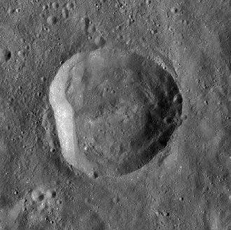 Pease (crater) - LRO WAC image