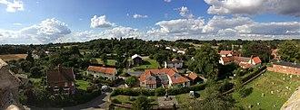 Peasenhall - Image: Peasenhall Panorama 2014