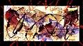 Pedro Meier Mail Art. Briefumschlag übermalt. Stempel »Berlin-Moskau 1950«. Mischtechnik 2015. Photo © Pedro Meier.jpg