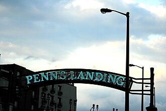 Penn's Landing - Penn's Landing sign