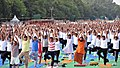 People participating in the rehearsal ahead of the Prime Minister's event on the International Day of Yoga 2018, at the Forest Research Institute, in Dehradun, Uttarakhand on June 19, 2018 (7).JPG