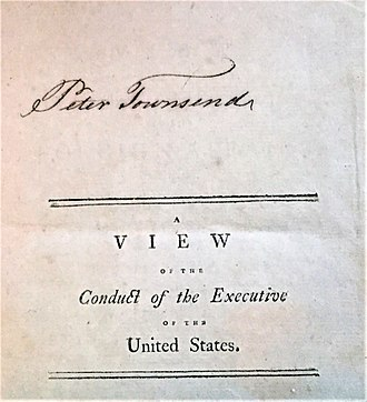 Sterling Iron Works - Autograph of Peter Townsend, noted in the American Revolution, owner of Sterling Iron Works