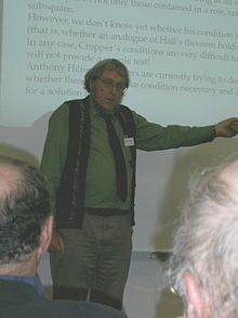 Description de l'image  Peter Cameron lecturing.jpg.