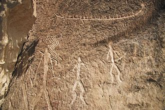 Culture of Azerbaijan - Petroglyphs in Gobustan dating back to 10,000 BC, indicating a thriving culture.