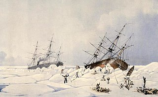 British barque crushed by ice in 1853
