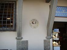 Disco divisorio del campo di gioco in piazza Santa Croce