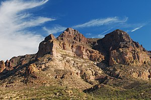 Pinal County, Arizona - Picketpost Peak, a prominent landmark above Superior.