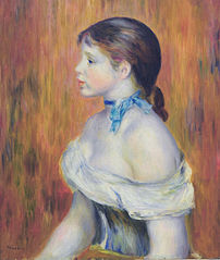 Young Woman with a Blue Choker