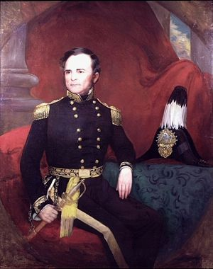 Gideon Johnson Pillow - Portrait of General Pillow by Washington B. Cooper