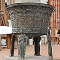 Pilsum church baptismal font westside.jpg