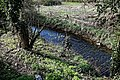 Pincey Brook from Sheering Road bridge looking west in Sheering, Essex, England 03.jpg