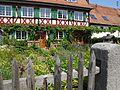 Plüderhausen - Fachwerk 1742 an der Rems, Lattenzaun.JPG