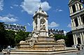 Place Saint Sulpice, fountain 2, Paris May 2014.jpg