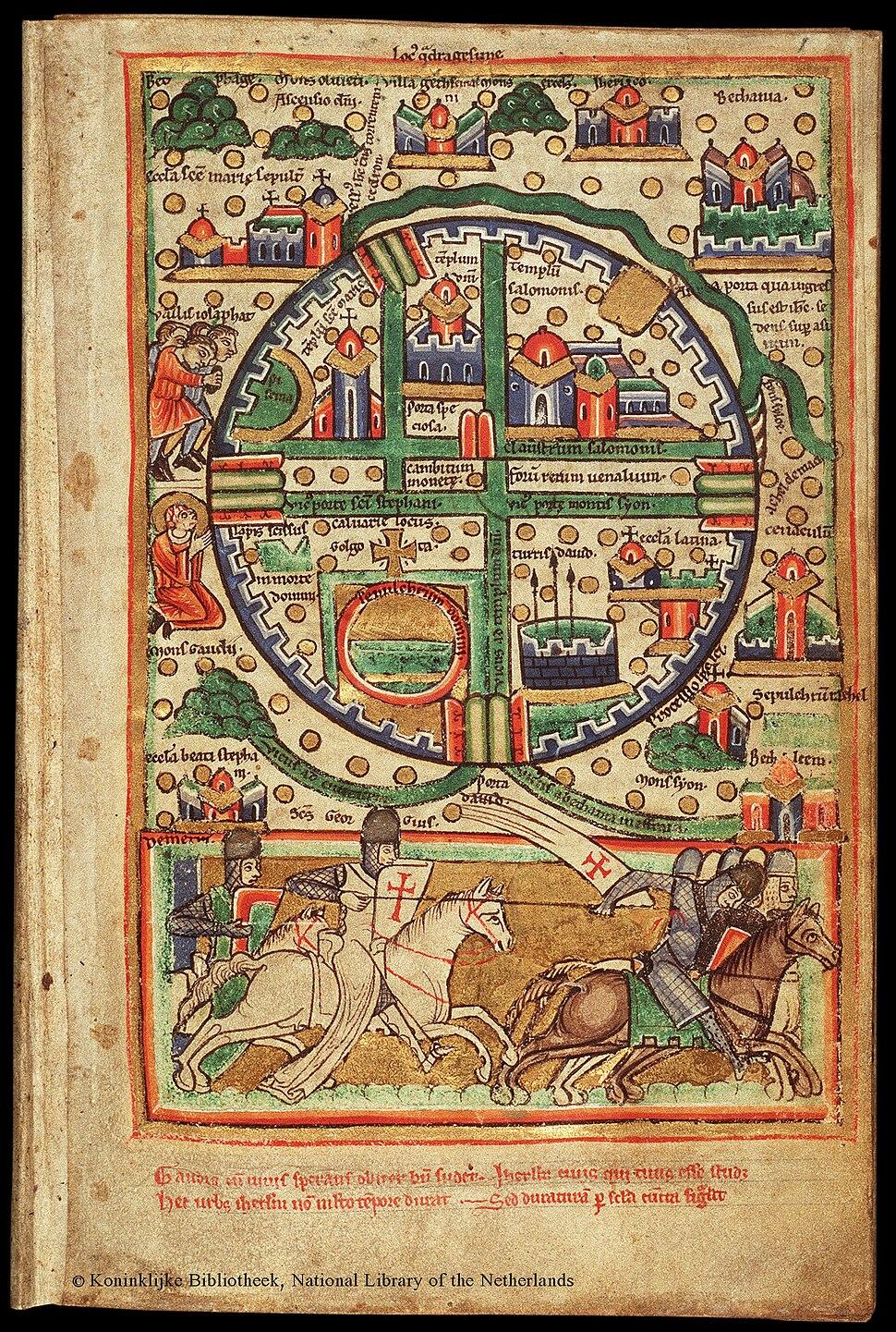 Plan of Jerusalem, 12th Century. ca. 1200