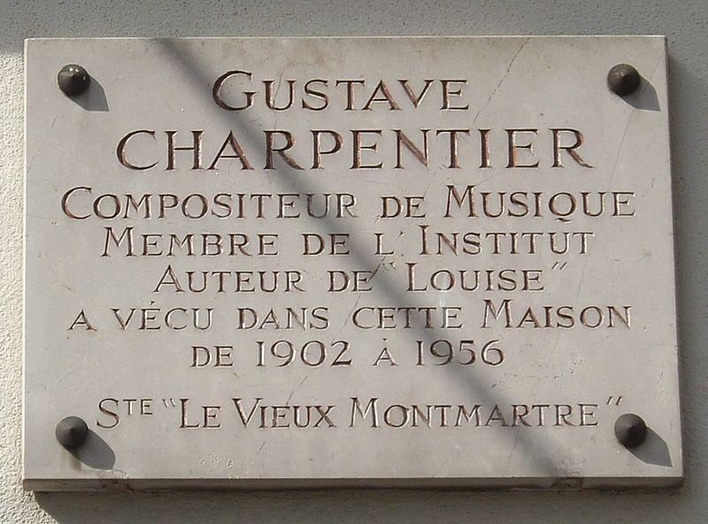 File:Plaque Gustave Charpentier, 66 boulevard de Rochechouart, Paris 18.jpg