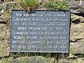 Plaque at the Vallum crossing at Benwell Fort - geograph.org.uk - 837844.jpg