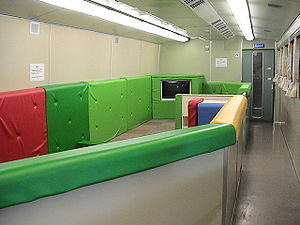 Hikari (train) - Children's play area on a Family Hikari service, December 2003