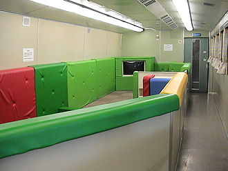 Hikari (train) - Children's play area on a Family Hikari service, December 2003