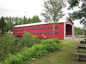 La Bostonnais, Quebec - Ducharme Bridge in the center of La Bostonnais