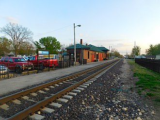 Pontiac station (Illinois) - The Pontiac station in April 2016