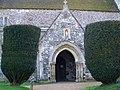 Porch, St Mary and St Bartholomew, Cranborne - geograph.org.uk - 695339.jpg