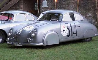 Liège–Rome–Liège - Porsche 356 SL version Gmünd coupé, a winning passenger car from the Liège-Rome-Liège race editions 1952 and 1954 with Helmut Polensky and Walter Schlüter (in 1952) and H. Linge (in 1954).