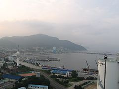 Yeosu today. Yeosu was Admiral Yi's headquarters.