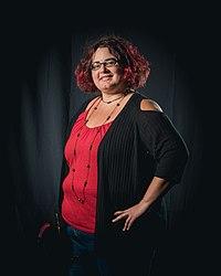 Portrait photoshoot at Worldcon 75, Helsini, before the Hugo Awards – Kameron Hurley.jpg