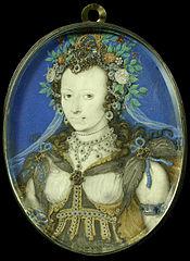 Portret van een vrouw in maskeradekleding als Flora