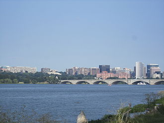 Potomac River - The Potomac River in Washington, D.C., with Arlington Memorial Bridge in the foreground and Rosslyn, Arlington, Virginia in the background