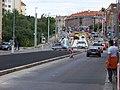 Průběžná, rekonstrukce TT, od ulice V Olšinách, zastávka Na Hroudě.jpg