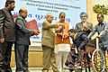 """Pranab Mukherjee presenting the """"National Awards for the Empowerment of Persons with Disabilities (Divyangjan), 2016"""", on the occasion of the """"International Day of Disabled Persons"""" (1).jpg"""