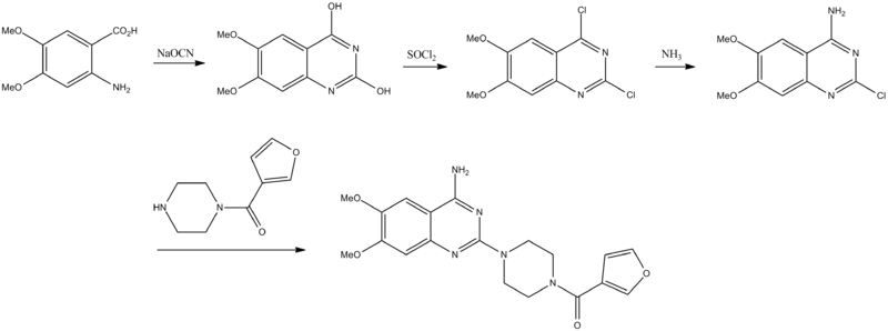 Prazosin synthesis.png