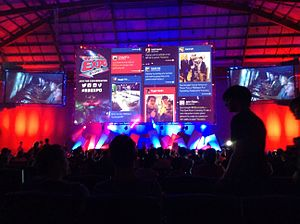 "EB Games Expo - The ""EB Arena"", the presentation stage, pictured during the 2013 EB Games Expo."