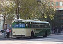 Preserved San Francisco Marmon-Herrington trolleybus 776 on Market St (2016).jpg