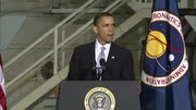 President Barack Obama speaks at Kennedy Space Center
