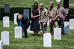 President Donald J. Trump and First Lady Melania Trump Visit Arlington National Cemetery