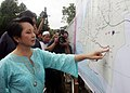 President Gloria Macapagal-Arroyo inspected the P10-million proposed rehabilitation or concreting of the farm-to-market-road.jpg