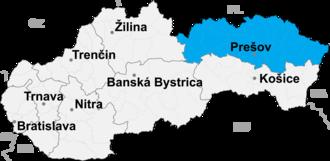 Poprad District - Image: Presov kraj
