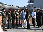 Prime Minister Narendra Modi being introduced to top Army Commanders at the Combined Commanders' Conference 2015.JPG