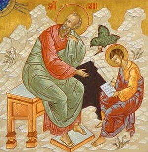 Prochorus (deacon) - John the Evangelist with Prochorus