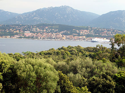 Corsica's coastline is a major driver for tourism - coastline by the town of Propriano Propriano 1.jpg