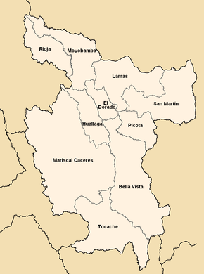Provinces of the San Martín region in Peru.png