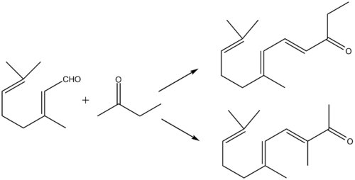 Synthese van methylpseudojonon