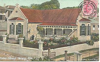 Mossel Bay - Public Library Mossel Bay (old postcard)
