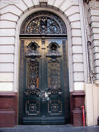 Buenos Aires House of Culture - Image: Puerta Casa de la Cultura La Prensa Avenida de Mayo