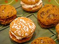 Pumpkin whoopie pies, black and white, October 2009 (4).jpg