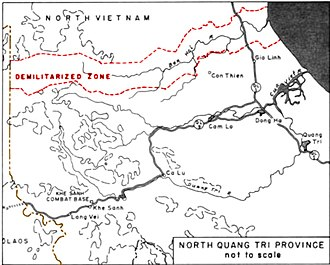 First Battle of Quảng Trị - Image: Quang Tri Province and DMZ