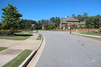 Milton, Georgia - Much of Milton is characterized by suburban housing developments like the one pictured here.