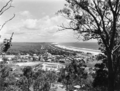 Queensland State Archives 2045 Burleigh Heads from Reservoir Hill looking north showing coastal roads c 1934.png